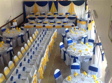 blue and yellow decor nigerian u orange colors royal blue and yellow wedding