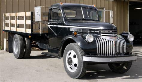 1 2 ton truck 1946 chevrolet truck 1 1 2 ton dually tilt bed runs well