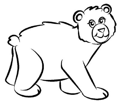 simple bear coloring page 4 trace and erase how to draw a bear howstuffworks