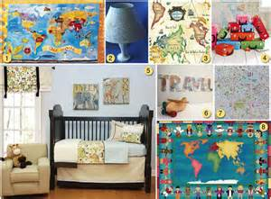 Girls Bedroom Themes using maps as kid s room decor