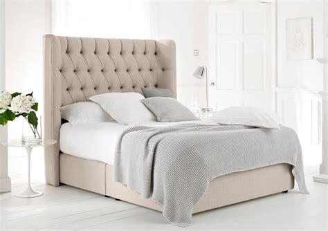 bed with headboard knightsbridge upholstered divan base and headboard super
