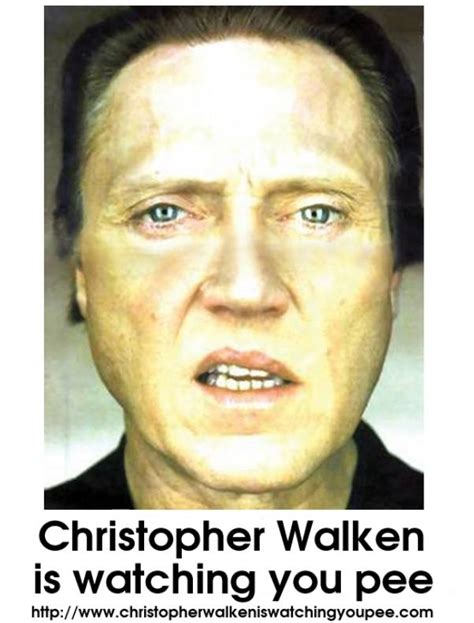 Christopher Walken Memes - christopher walken is watching you pee