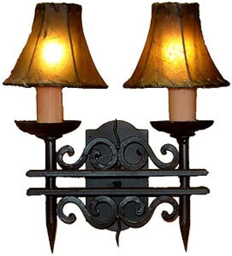 Wrought Iron Wall Lights 2 Light Forged Wrought Iron Wall Sconce Uvagws002
