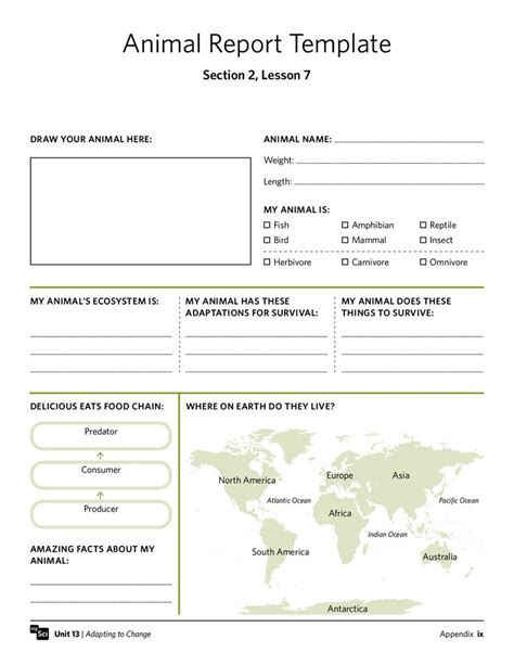 printable animal research template printable animal research template animal report template