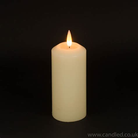 candele a led pillar led candle 6 quot x 3 quot diameter candled
