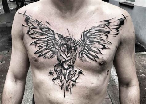 owl tattoo breast owl moon tattoo best tattoo ideas gallery