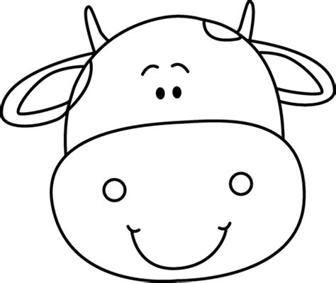 coloring pages cow face black and white cow head clip art black and white cow