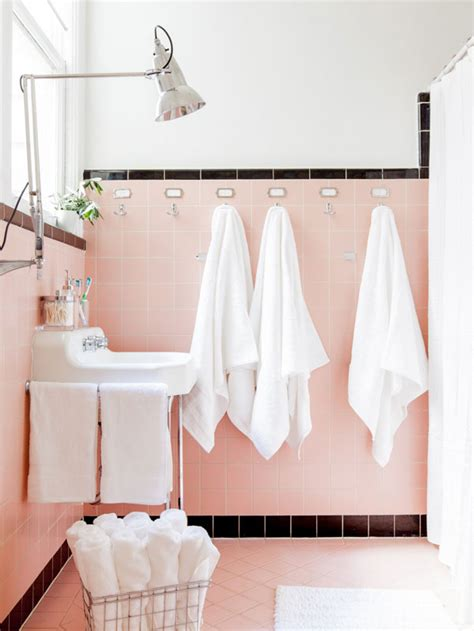 images of pink bathrooms reasons to love retro pink tiled bathrooms hgtv s