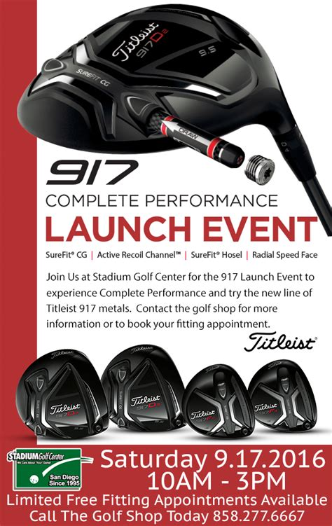 Onoff Launch Reception by Titleist 917 Metals Complete Performance Launch Event