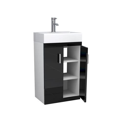 black and white bathroom vanity unit 450mm modern bathroom furniture storage checkers vanity