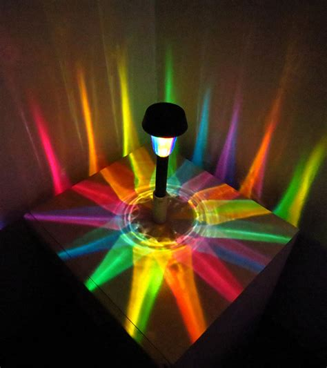 colored solar lights moodlights led outdoor lights add a splash of color to your garden technabob