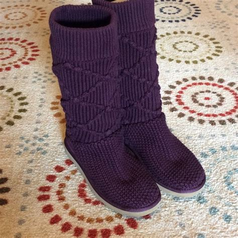 sweater knit uggs ugg like new argyle sweater knit ugg boots from