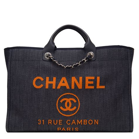 Chanel Deauville Shopping Tote Bags 972 chanel blue and orange large deauville shopping tote world s best