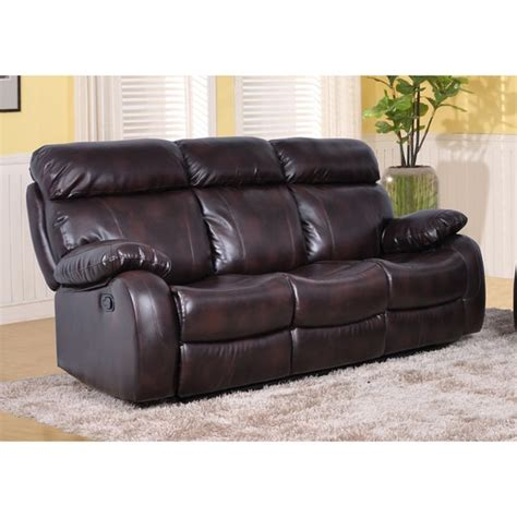 Barcelona Leather Sofa Barcelona Faux Leather Reclining Living Room Sofa