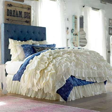 gypsy bedding junk gypsy blue jean headboard pbteen