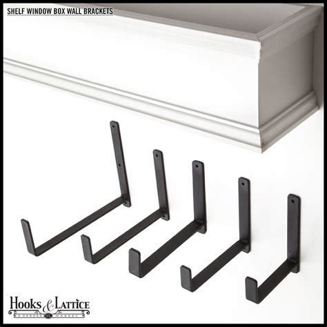 window box brackets 6 quot shelf window box wall bracket pair