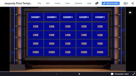 Prezi Jeopardy Template Interactive Jeopardy Game In Prezi Next Prezibase