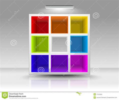 mensole colorate svuoti le mensole colorate illustrazione vettoriale