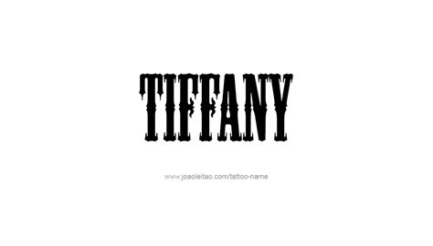 tiffany tattoo designs name designs