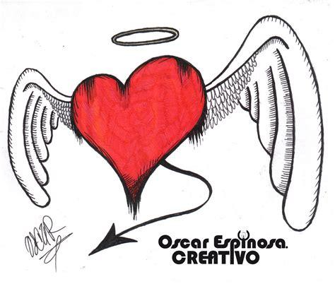imagenes de corazones goticos con alas dibujos a lapiz de corazones con alas imagui