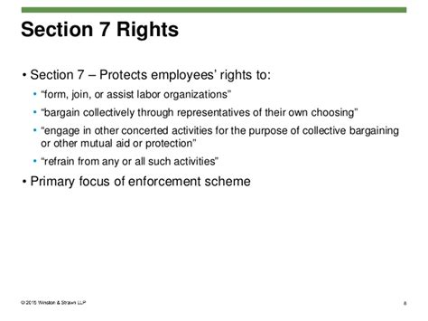 Nlra Section 7 Rights by Nlrb Briefing Regarding Employee Handbook Policies