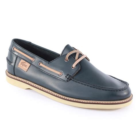 mens boat shoe boots lacoste busoni mens boat shoes in blue