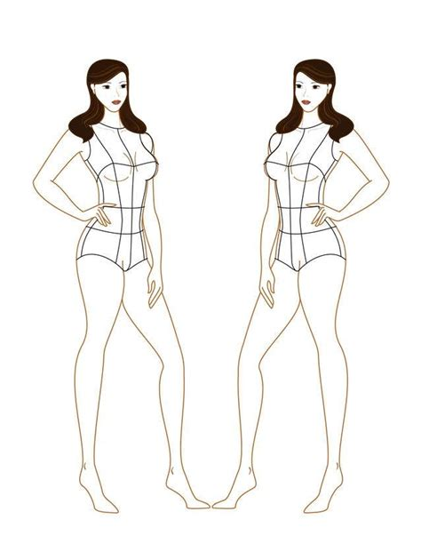 female croquis templates pinterest