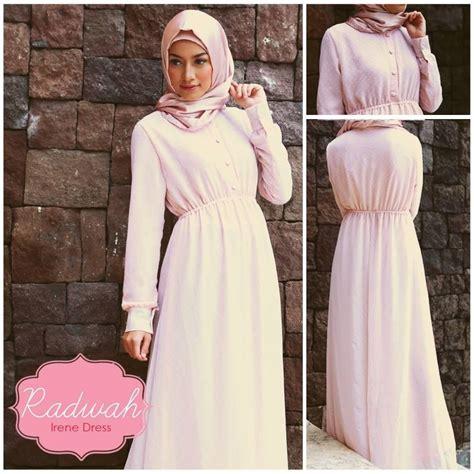 Gamis Terbaru Irene Irene Color Soft Baju Muslim Gamis Modern