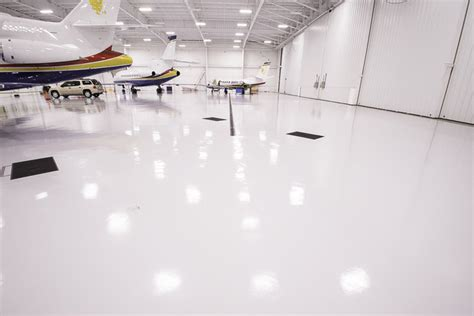white epoxy floors the perfect sanitary look
