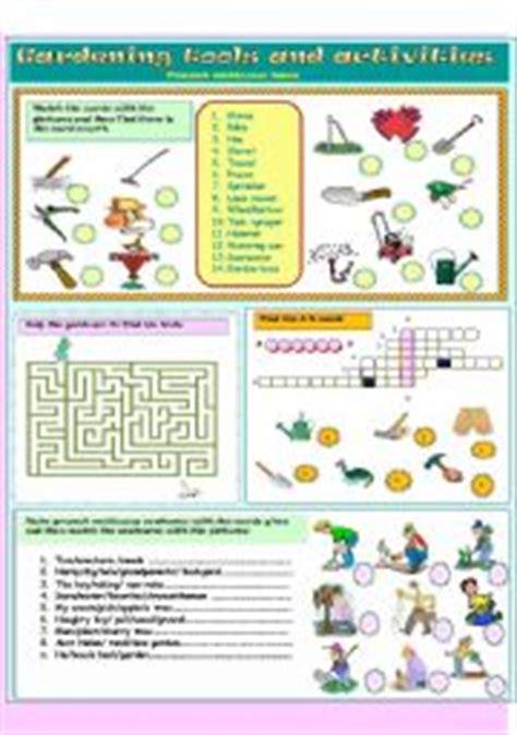 Gardening Verbs Gardening Tools And Activities Present Continuous Tense