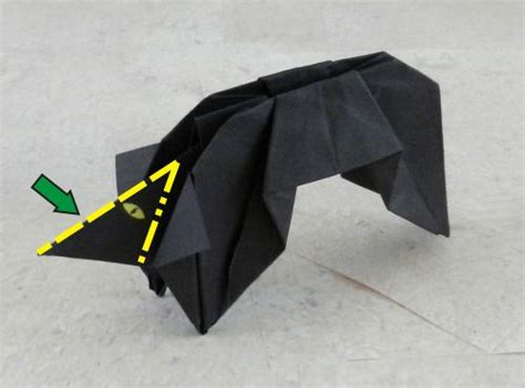 Origami Black Cat - joost langeveld origami page