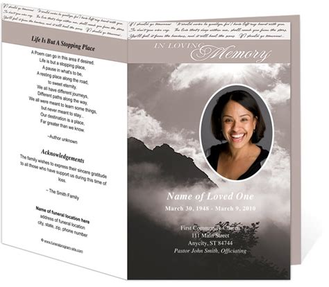 funeral bulletin templates 218 best images about creative memorials with funeral