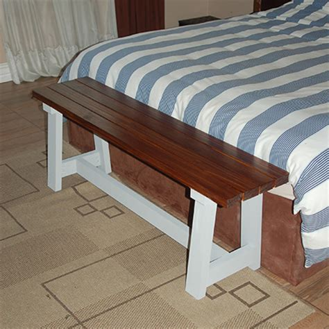 bench for bottom of bed home dzine home diy easy slat bench