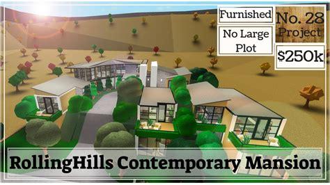 roblox bloxburg rollinghills contemporary mansion