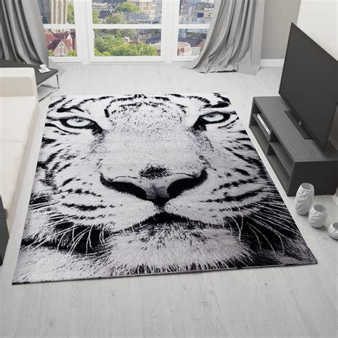 tiger teppich designer teppich schnee tiger katze wei 223 gr 252 ne augen