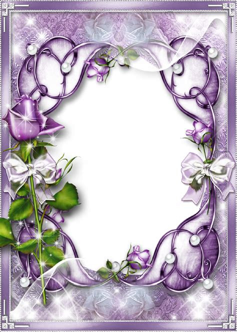 light purple picture frame transparent purple frame creative photo frame for