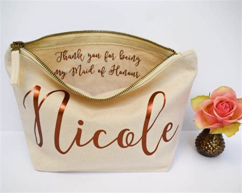 Thanks To Our Sponsors Makeup Bag by Wedding Thank You Gift Personalised Bridesmaid Gift Make