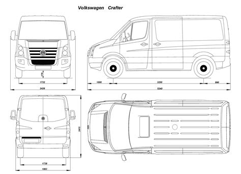 volkswagen crafter dimensions volkswagen crafter 2006 blueprint download free