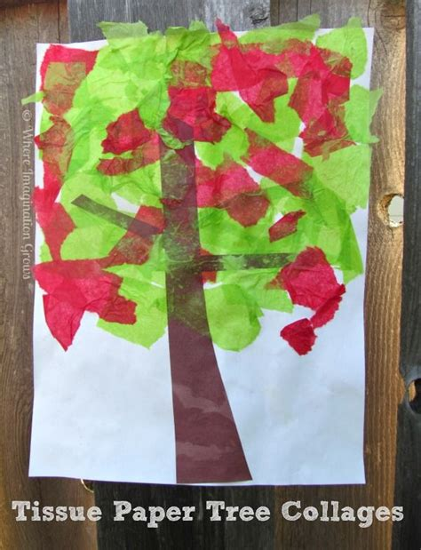 Tissue Paper Crafts For Preschoolers - best 25 tissue paper trees ideas on tissue