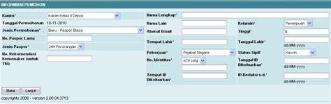 pembuatan paspor online berapa lama pengisian pra permohonan pembuatan paspor online