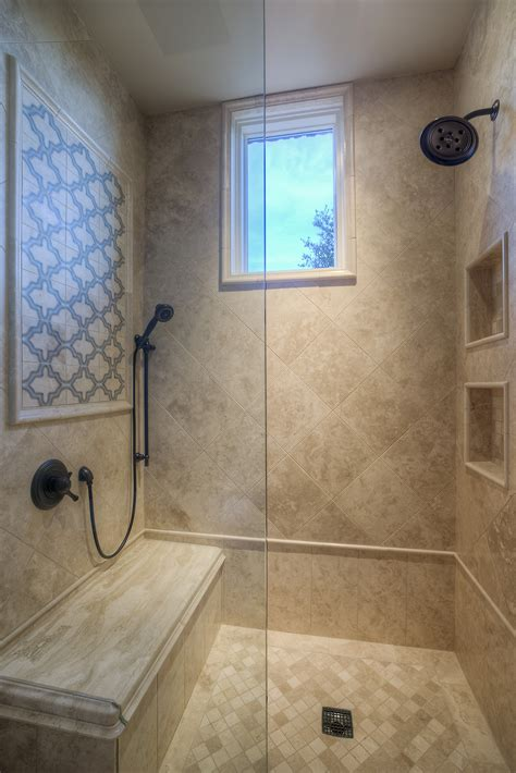 custom walk in showers custom luxury walk in shower with two shower heads and