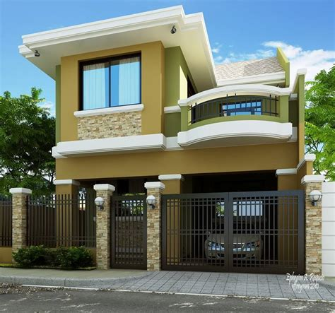 2 home designs 2 storey modern house designs in the philippines bahay ofw