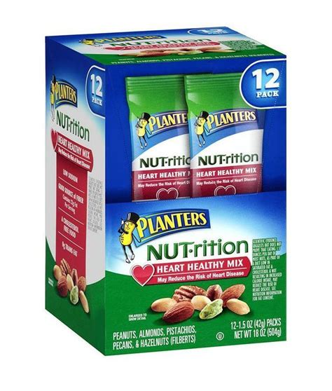 Planters Nut Trition by Planters Nut Trition Deluxe Mixed Nuts Snack Mix 12 1 5 Oz Packs Fresh New Nuts Seeds