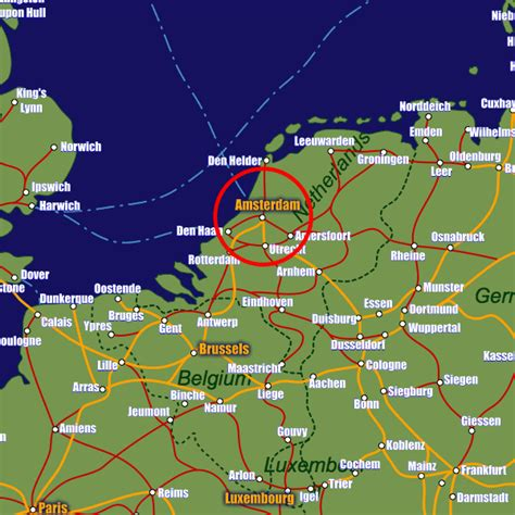 amsterdam netherlands map europe amsterdam rail maps and stations from european rail guide