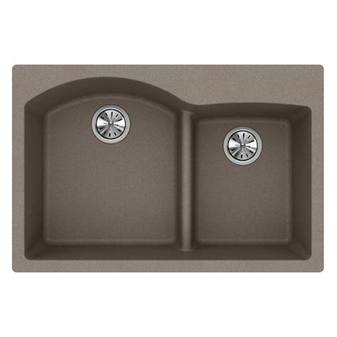 home depot kitchen sinks drop in elkay quartz classic drop in composite 33 in double bowl