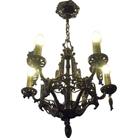 Grape Chandelier Tudor Cast Bronze 5 Light Chandelier With Grape Motif From Sherlocksantiquelights On Ruby