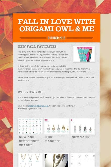 Origami Owl Signs - origami owl fall in with and fall jewelry on