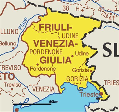 friuli venezia giulia mapa de friuli venezia giulia mapa de italia ciudades