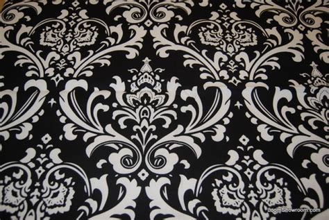 large print drapery fabric damask print black and white bold large scale print heavy