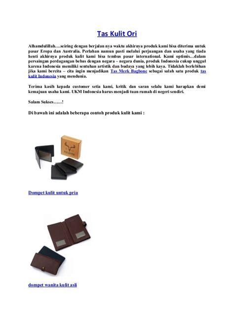 tas kulit ori dari bagbone leather indonesia